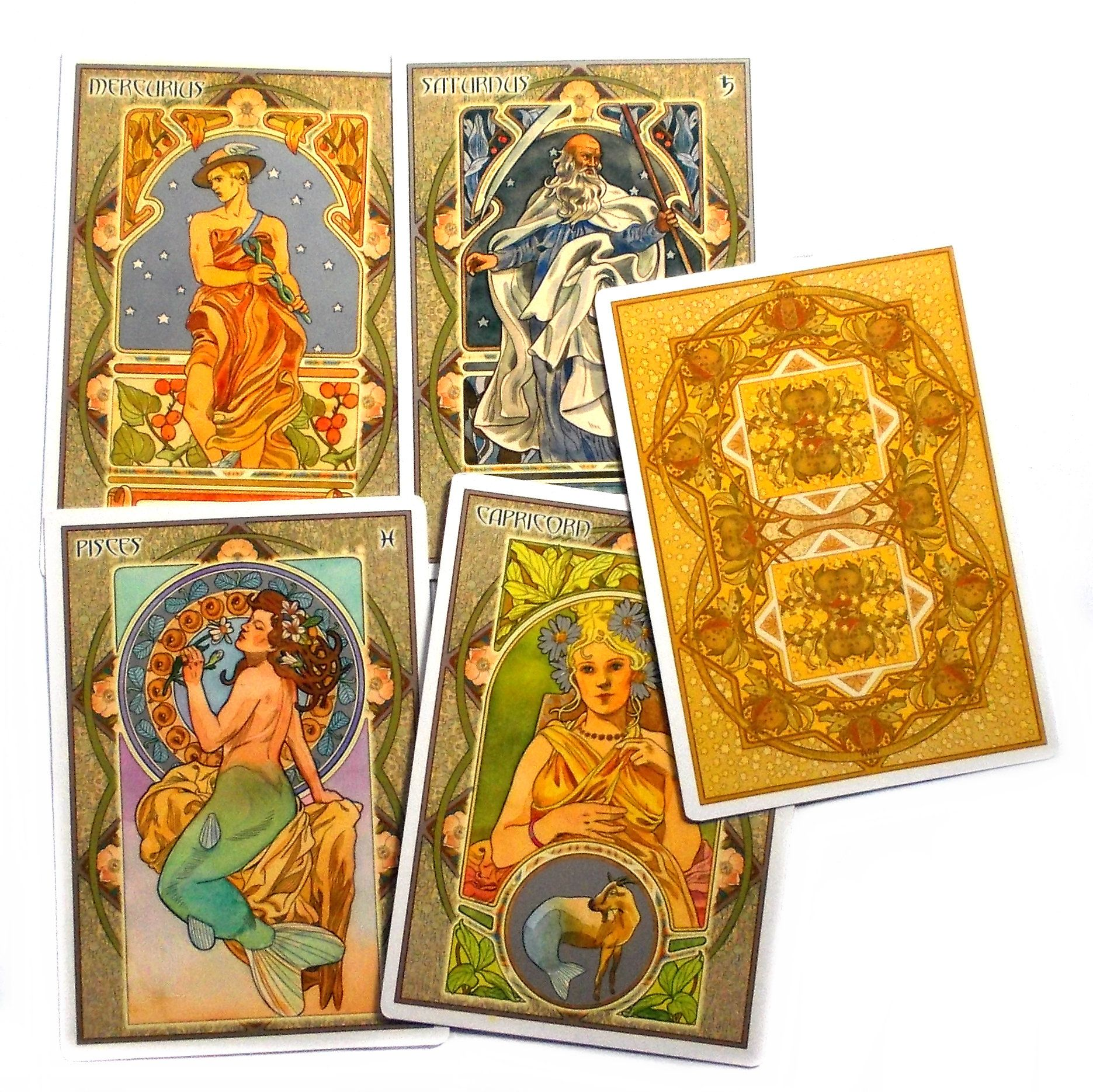 Art Nouveau Tarot Card Paintings